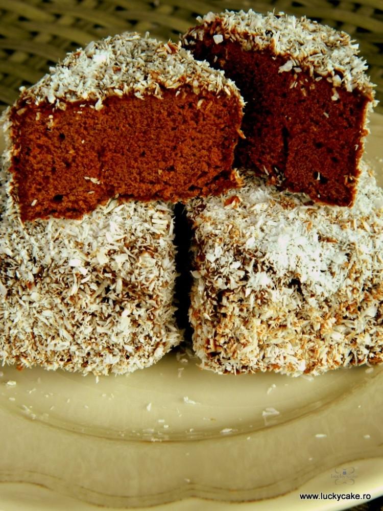 Prajitura Lamington  de ciocolata