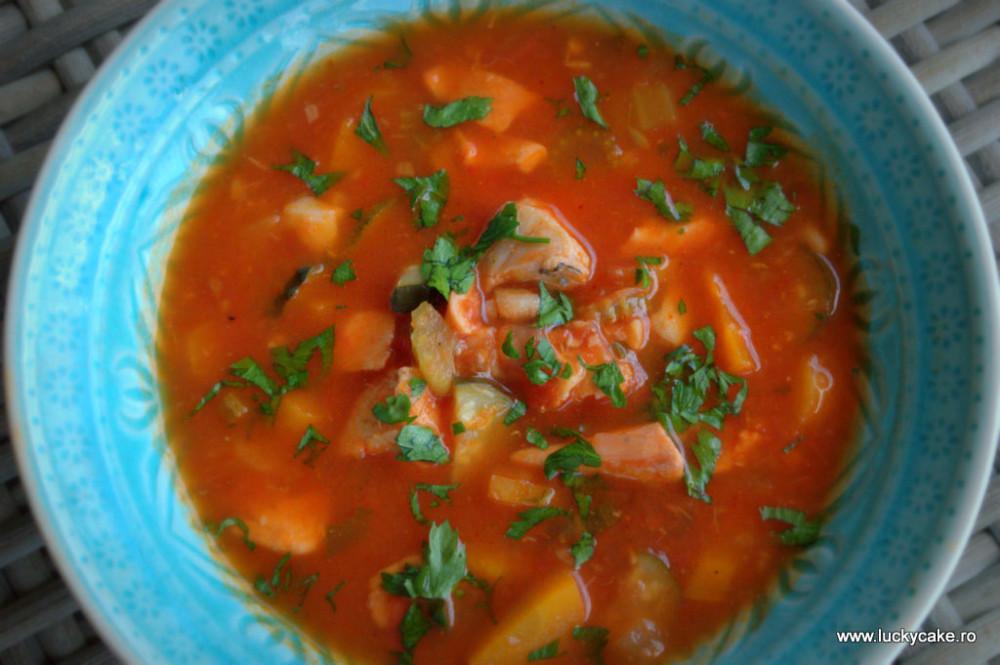 Supa de peste si legume