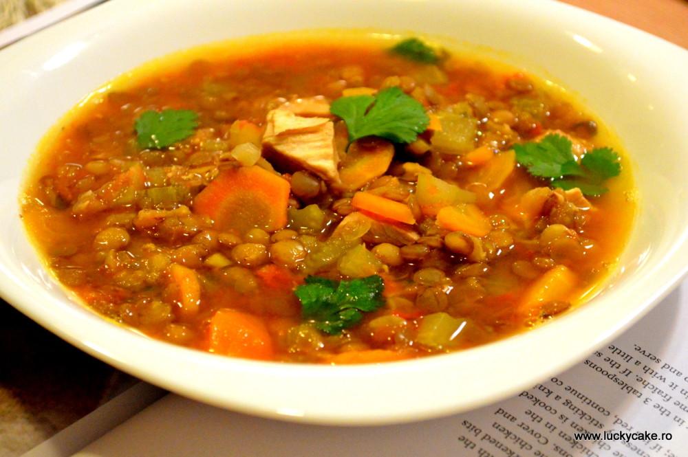 supa de linte cu pui