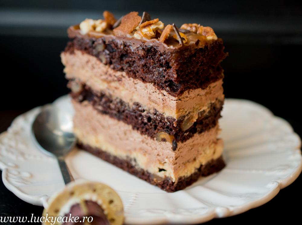Tort Devine cu ciocolata si caramel