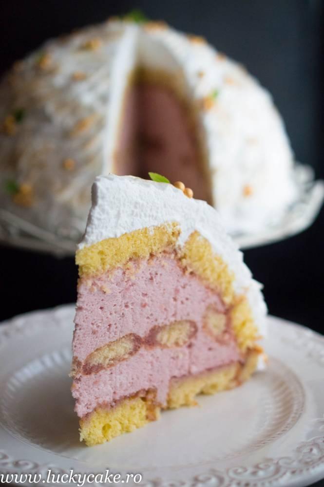 Tort Alaska cu capsuni