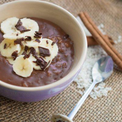 orez in lapte cu ciocolata